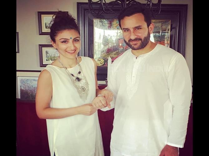 bollywood siblings and their unexpected age gaps-Saif Ali Khan and Soha Ali Khan