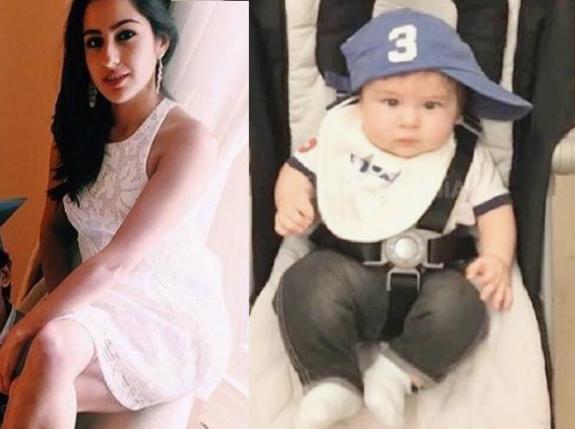 bollywood siblings and their unexpected age gaps-Sara Ali Khan and Taimur Ali Khan.gif